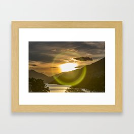 Golden Sunset on Queenstown and Lake Wakatipu Framed Art Print