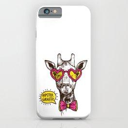 COOL HIPSTER GIRAFFE iPhone Case
