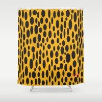 cheetah Shower Curtains featuring Cheetah by Tim Breitzmann