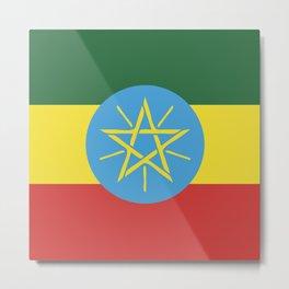 Ethiopia flag emblem Metal Print