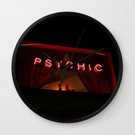 A Distinctive Shade of Red (7th & Bleecker) Wall Clock