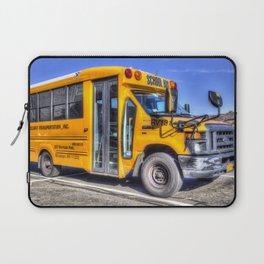 American School Bus Laptop Sleeve