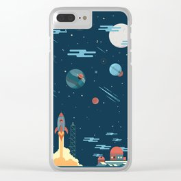 SPACE poster Clear iPhone Case