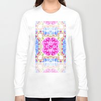 moroccan Long Sleeve T-shirts featuring Moroccan Rose by Yaz Raja Designs