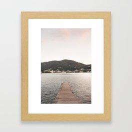 Como Dock Framed Art Print