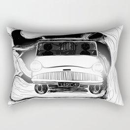 Harry, Ron and their first car ride Rectangular Pillow