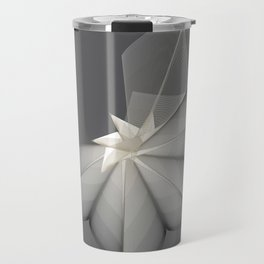 grey flower Travel Mug