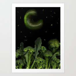 Moon over Broccoli Art Print
