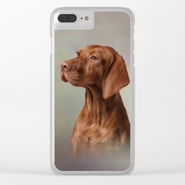 Drawing funny Vizsla Pointer 4 Clear iPhone Case