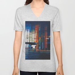 Modern Architecture Glass Unisex V-Neck