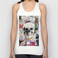 skull Tank Tops featuring Skull by FAMOUS WHEN DEAD