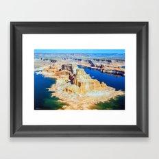 Soaring Over Turquoise and Sandstone Framed Art Print