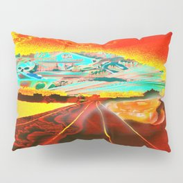 Railroad to the world. Pillow Sham