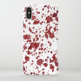 Blood Spatter iPhone Case