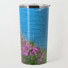 Wild Flowers on the Cliff Top Travel Mug