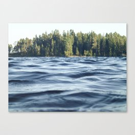 Summer Forest Lake Canvas Print