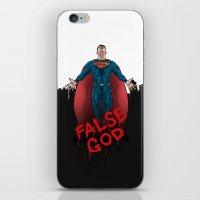 superheros iPhone & iPod Skins featuring FALSE GOD. by KODYMASON