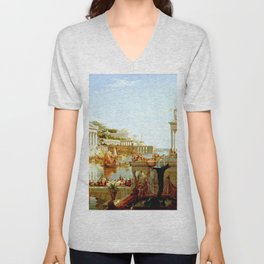 Cole Thomas The Consummation The Course of the Empire Unisex V-Neck
