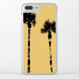 Graphic Art PALM TREES MAI | yellow & gold Clear iPhone Case