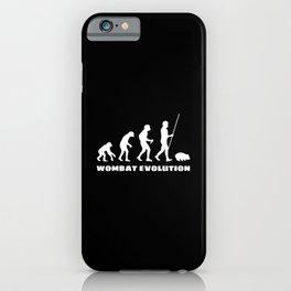 Wombat Evolution iPhone Case
