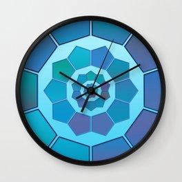 Blue gradient polygons Wall Clock