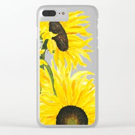 sunflower watercolor 2017 Clear iPhone Case