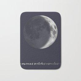 Waxing Crescent Moon on Navy Latin Bath Mat