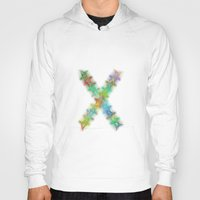 letter Hoodies featuring Letter X by David Zydd