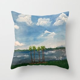 A View of The Indian River Throw Pillow