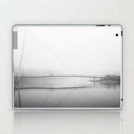 Winter Fog at St. George's Quay, Lancaster Laptop & iPad Skin