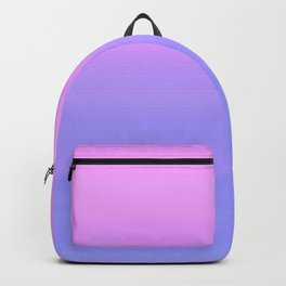 Pastel Pink Blue Stripes | Abstract gradient ombre pattern Backpack