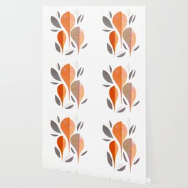 Minimal Autumnal Leaf Trio #abstractart Wallpaper