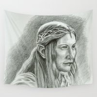 lotr Wall Tapestries featuring Galadriel by Catru