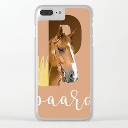 Paard - dierenalfabet Clear iPhone Case