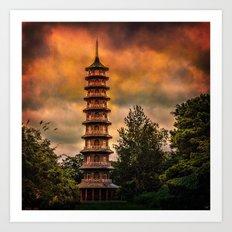 Kew Pagoda Art Print