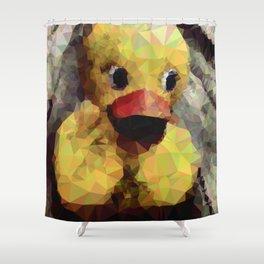 Geometric Yellow Rubber Duck Shower Curtain