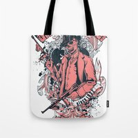 gangster Tote Bags featuring Urban gangster by Tshirt-Factory