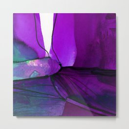 Watercolor Abstraction No.234F by Kathy Morton Stanion Metal Print