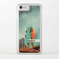 Happiness Here Clear iPhone Case