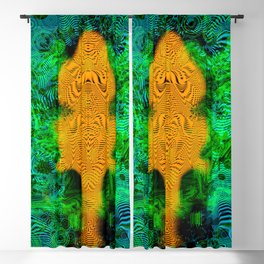 Camel Man (psychedelic, op art, halftone, abstract) Blackout Curtain