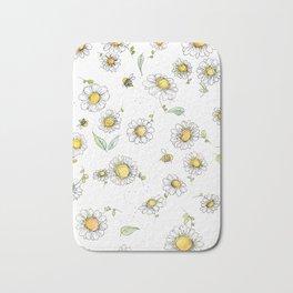 Bees and Daisies Bath Mat