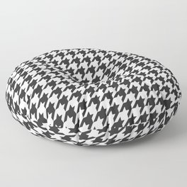 Black and white houndstooth pattern Floor Pillow