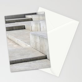 concrete geometry - modernist abstract 4 Stationery Cards