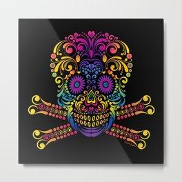 Decorative Candy Skull Metal Print