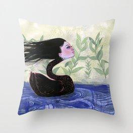 Yvonne Swan Throw Pillow