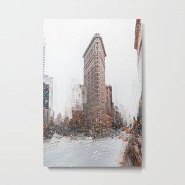 Flatiron Building mosaic Metal Print