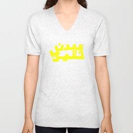 Ma3dani Thqeel / Heavy Metal Logo Arabized Unisex V-Neck