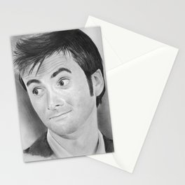 Allons-y! David Tennant in Doctor Who Stationery Cards