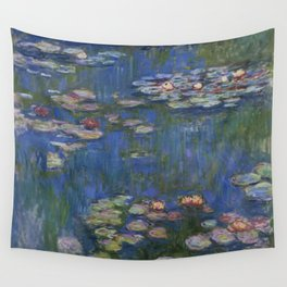 WATER LILIES - CLAUDE MONET Wall Tapestry