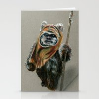 ewok Stationery Cards featuring Ewok by Sam Luotonen